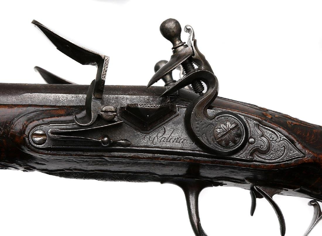PAIR OF 18TH CENTURY FLINTLOCK PISTOLS BY THE LORAIN IN - 10