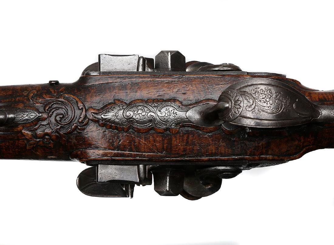 PAIR OF 18TH CENTURY FLINTLOCK PISTOLS BY THE LORAIN IN - 18