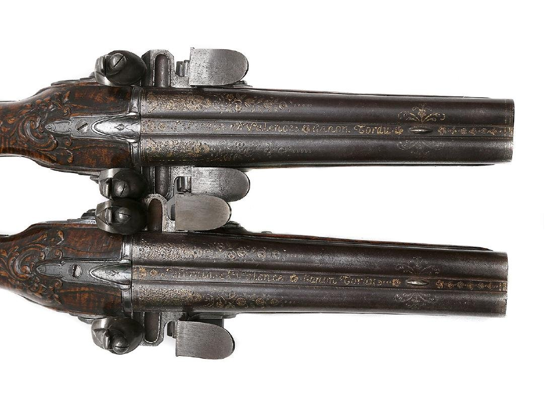 PAIR OF 18TH CENTURY FLINTLOCK PISTOLS BY THE LORAIN IN - 3