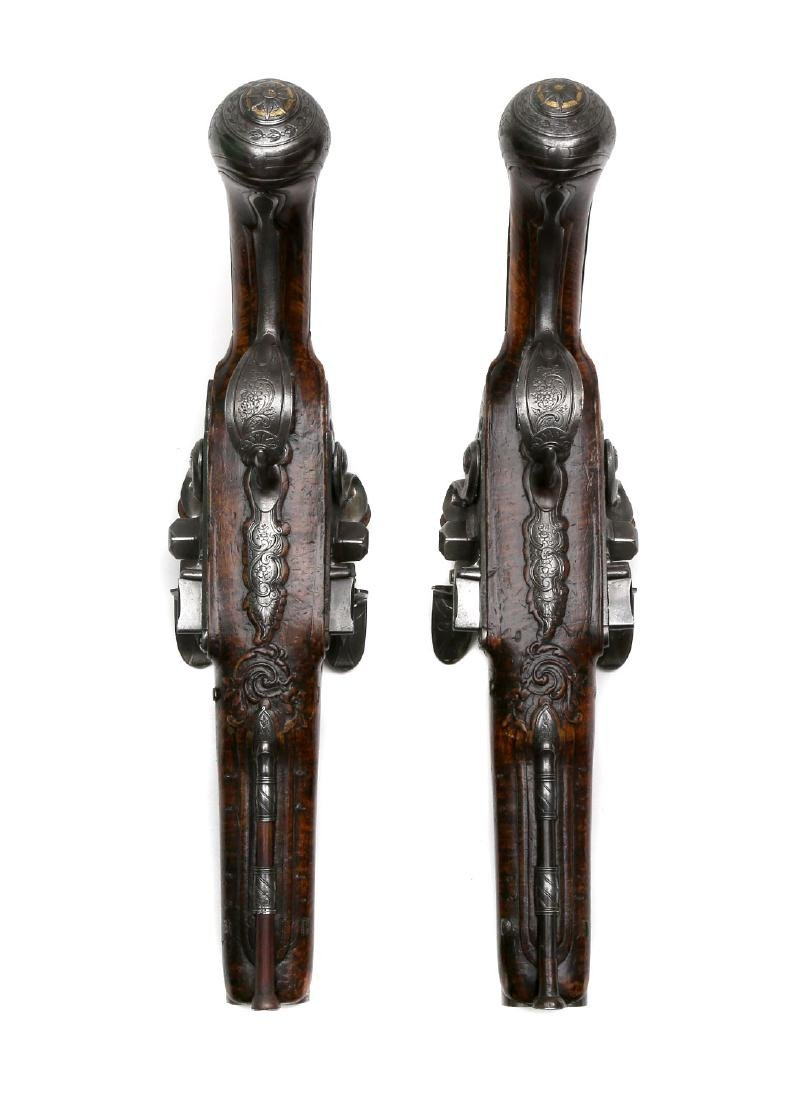 PAIR OF 18TH CENTURY FLINTLOCK PISTOLS BY THE LORAIN IN - 4