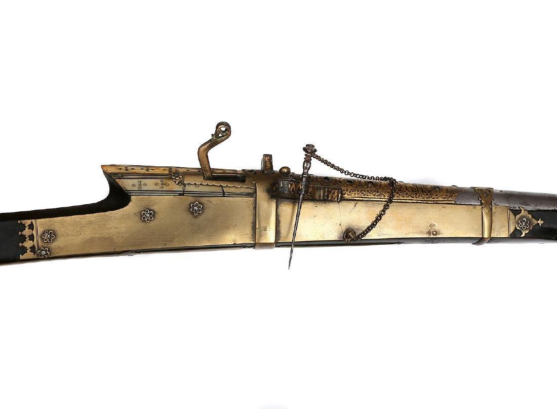 INDIAN MUGHAL ISLAMIC MATCHLOCK MUSKET - 3