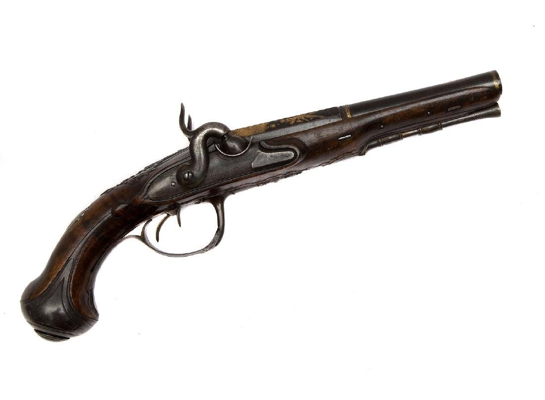 GILT FRENCH PISTOL BY GOURINAL A SAUMUR, CA 1680
