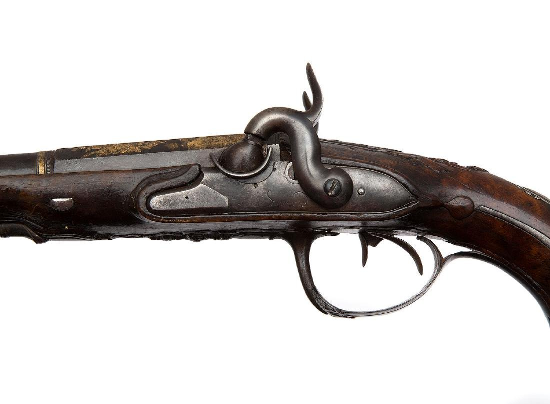 GILT FRENCH PISTOL BY GOURINAL A SAUMUR, CA 1680 - 7