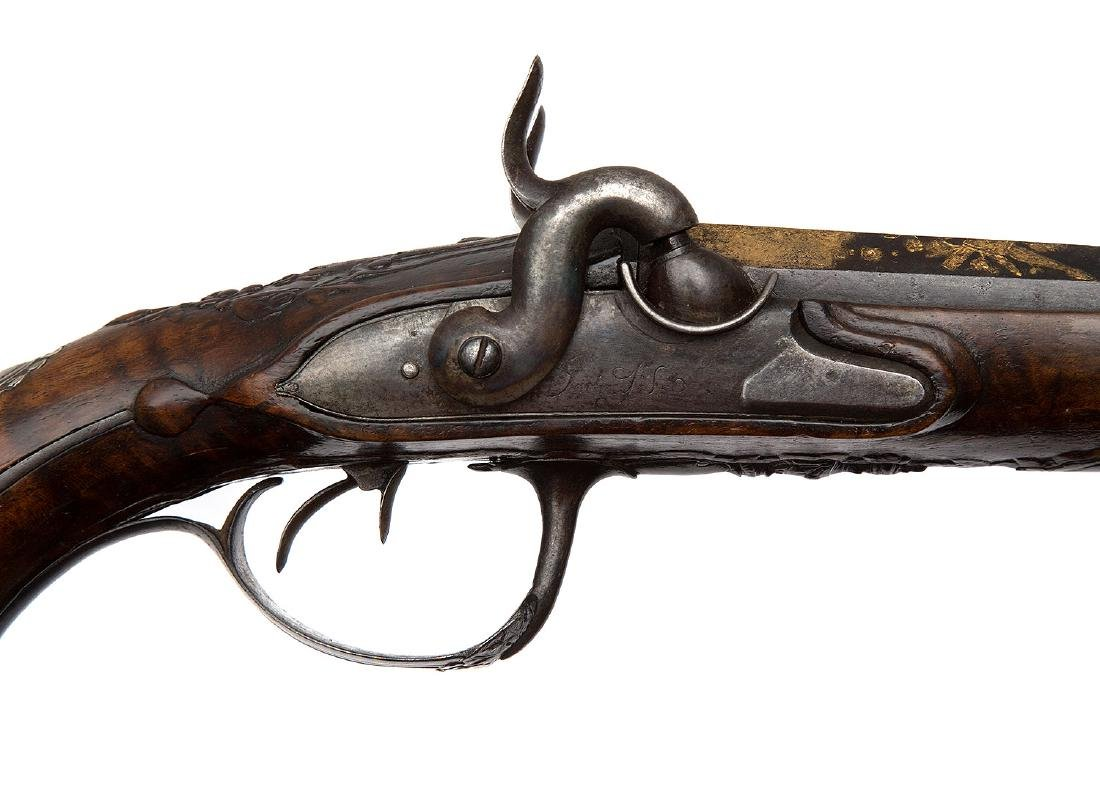 GILT FRENCH PISTOL BY GOURINAL A SAUMUR, CA 1680 - 8