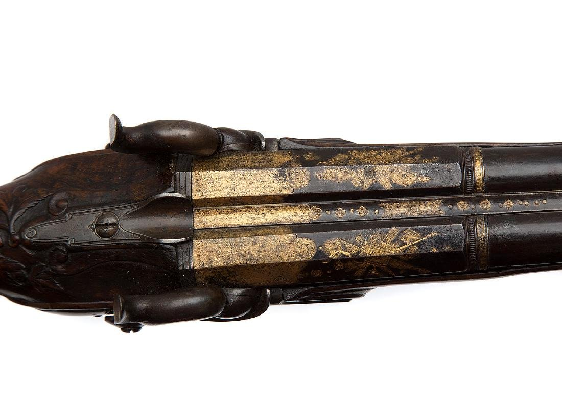 GILT FRENCH PISTOL BY GOURINAL A SAUMUR, CA 1680 - 9