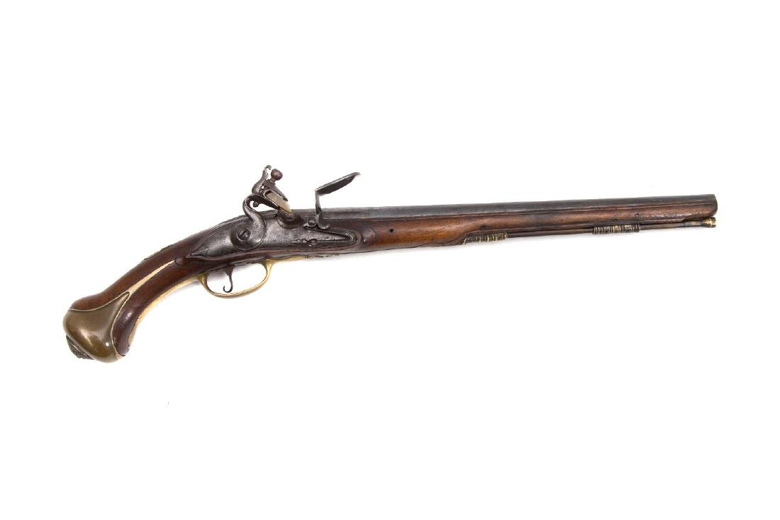 FRENCH FLINTLOCK PISTOL BY HENRI LIEBAU A SEDAN, 1700