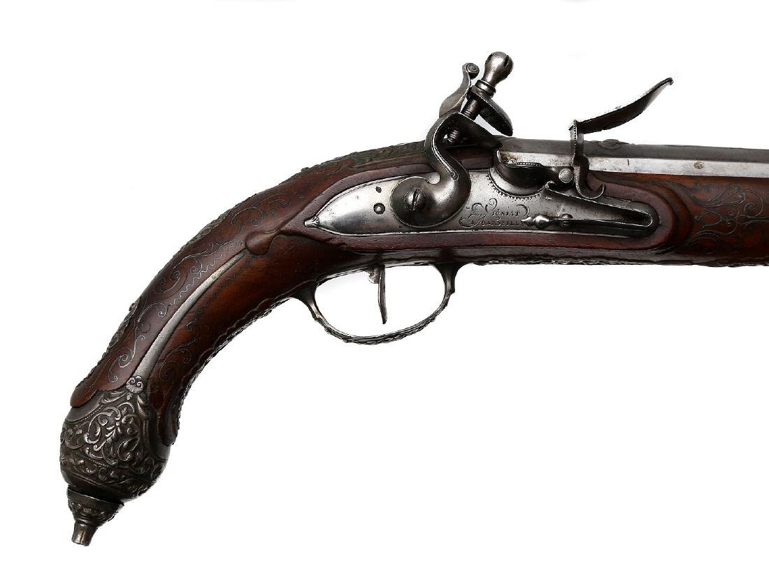 A PAIR OF FRENCH FLINTLOCK PISTOLS FOR EASTERN MARKET, - 6