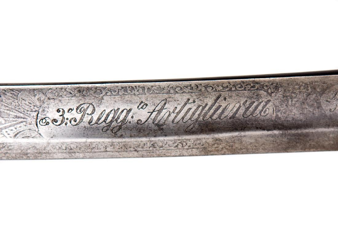 ITALIAN ARTILLERY SWORD SABER - 9