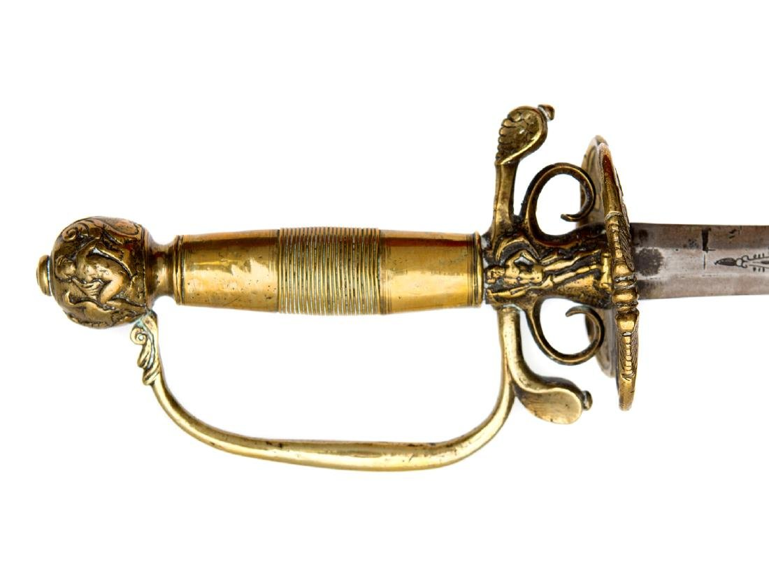 WESTERN EUROPEAN SMALL COURT SWORD, CA. 1700 - 3