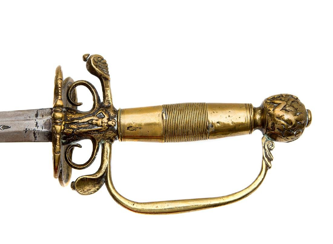WESTERN EUROPEAN SMALL COURT SWORD, CA. 1700 - 4