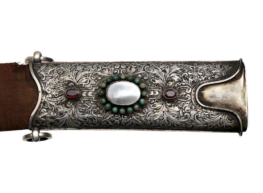 RARE SILVER MOUNTED MAGNAT SABER SWORD, 18TH CEN. - 8