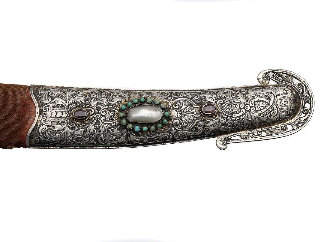 RARE SILVER MOUNTED MAGNAT SABER SWORD, 18TH CEN. - 9