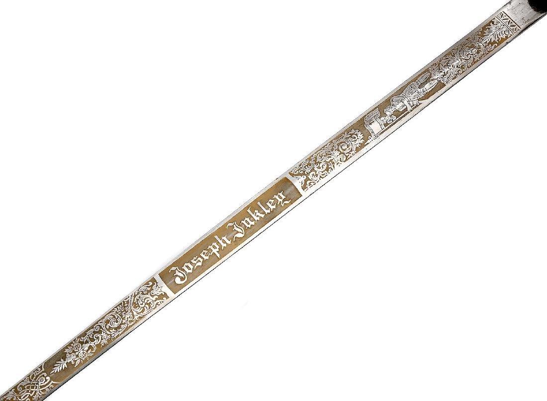 ANTIQUE ORNATE MASONIC KNIGHTS TEMPLAR SWORD - 9