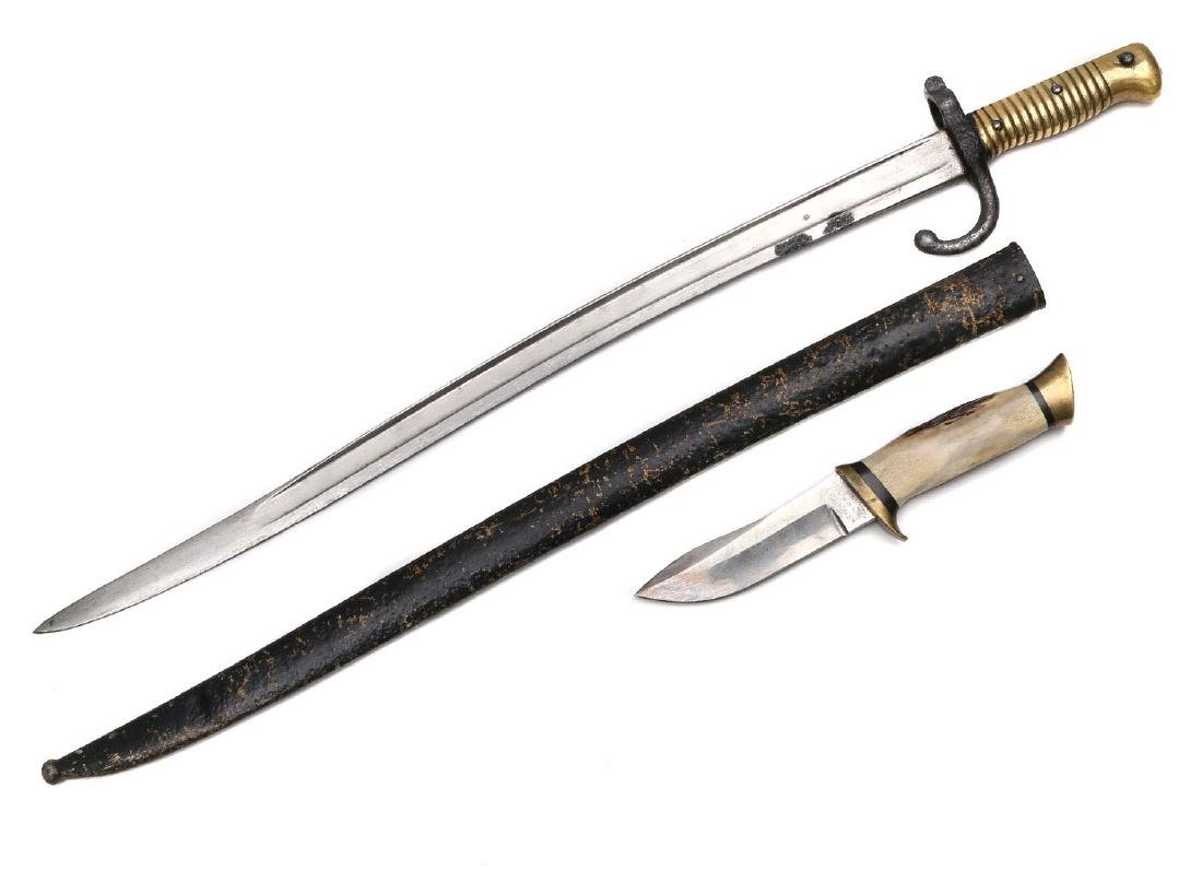 CHASSEPOT BAYONET AND AMERICAN KNIFE