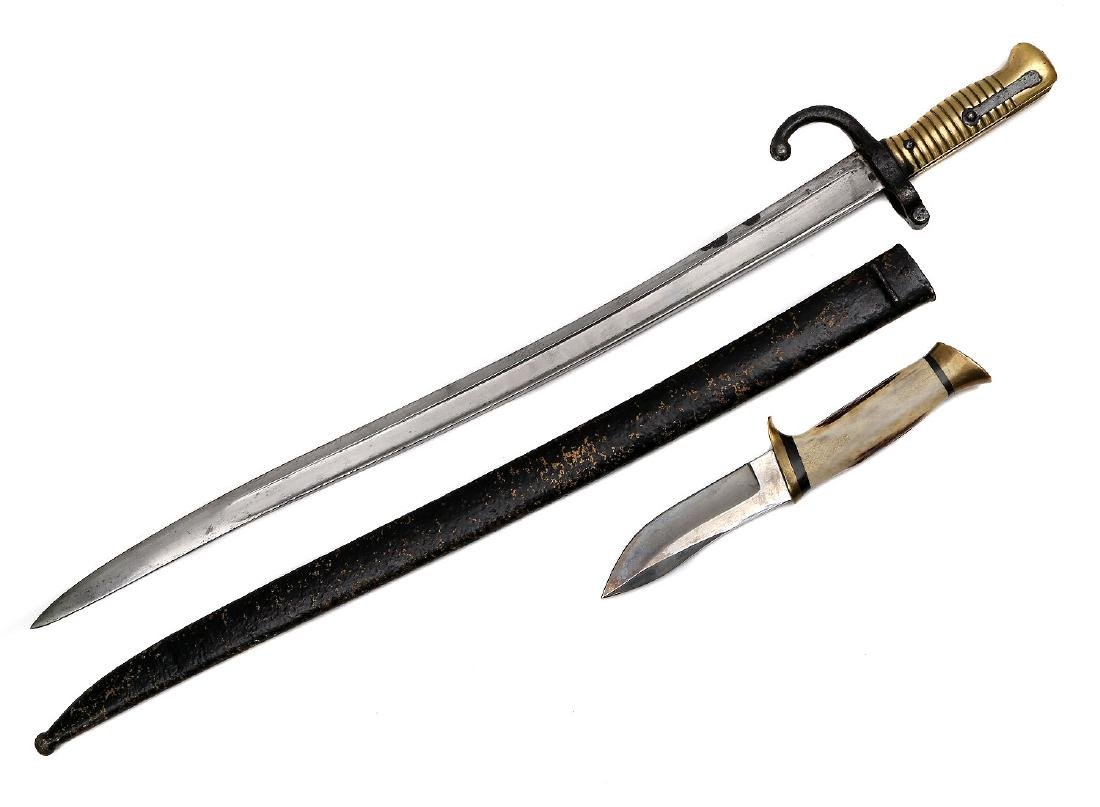 CHASSEPOT BAYONET AND AMERICAN KNIFE - 2