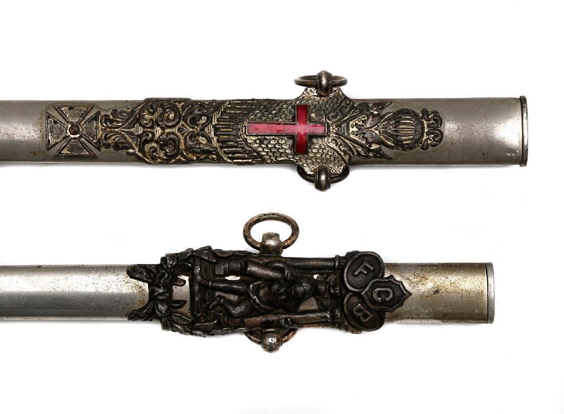 SET OF TWO GILT MASONIC CEREMONIAL SWORDS - 7