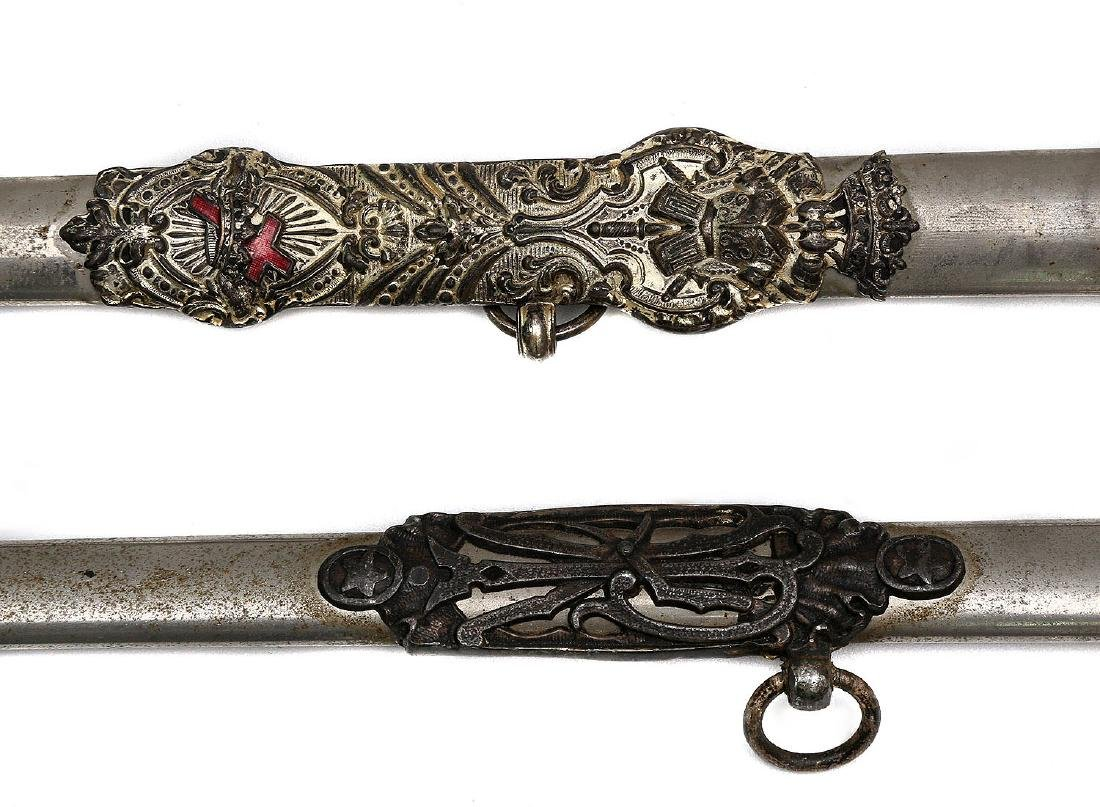 SET OF TWO GILT MASONIC CEREMONIAL SWORDS - 8