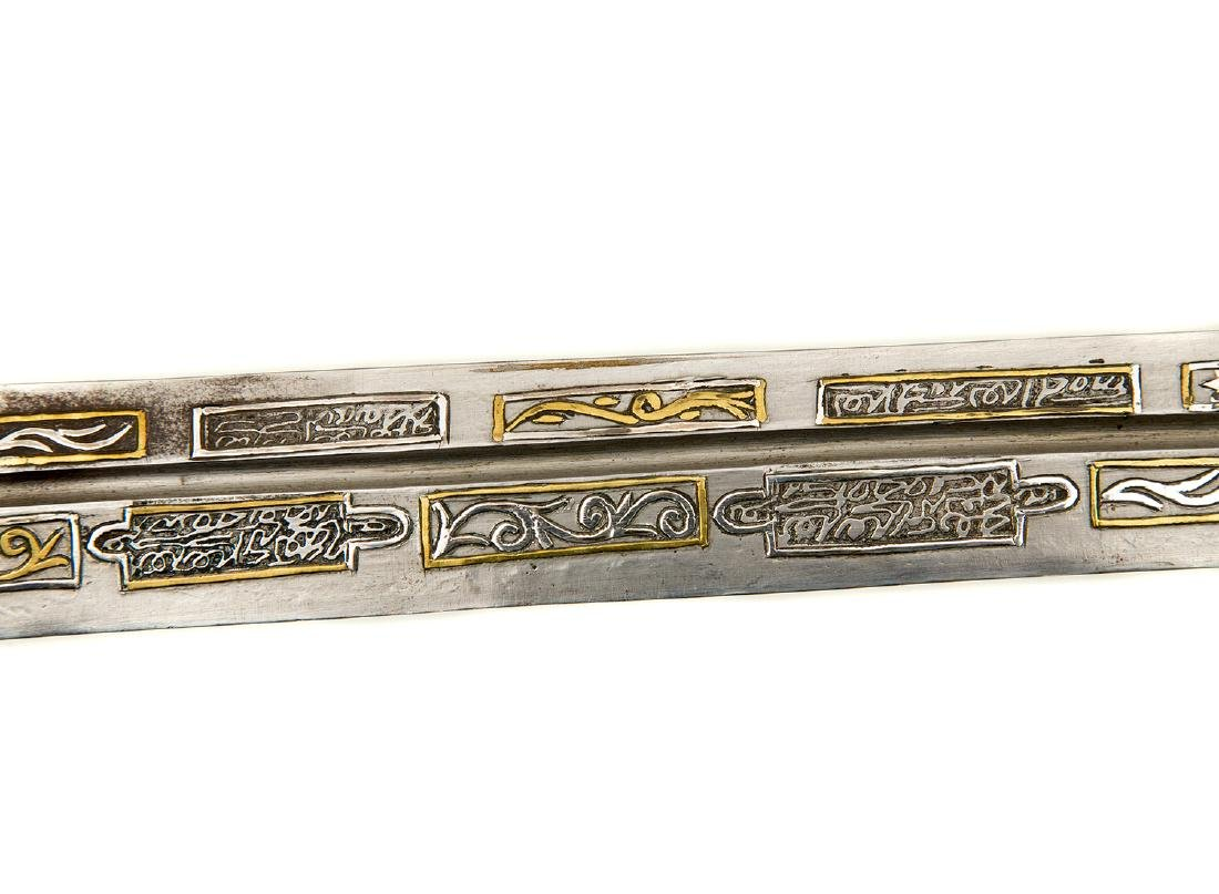 SILVER -MOUNTED CAUCASIAN DAGGER WITH UNUSUAL BLADE - 8