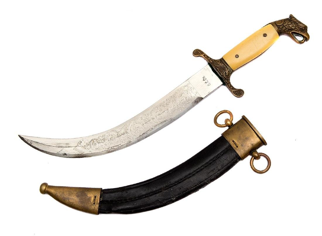 SOUTH AMERICAN EAGLE HEAD CURVED DAGGER - 3