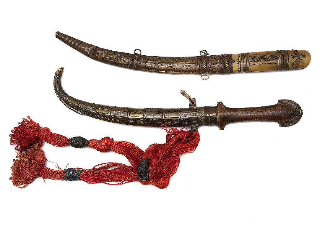 SET OF TWO 19 CEN. JAMBIYA DAGGERS