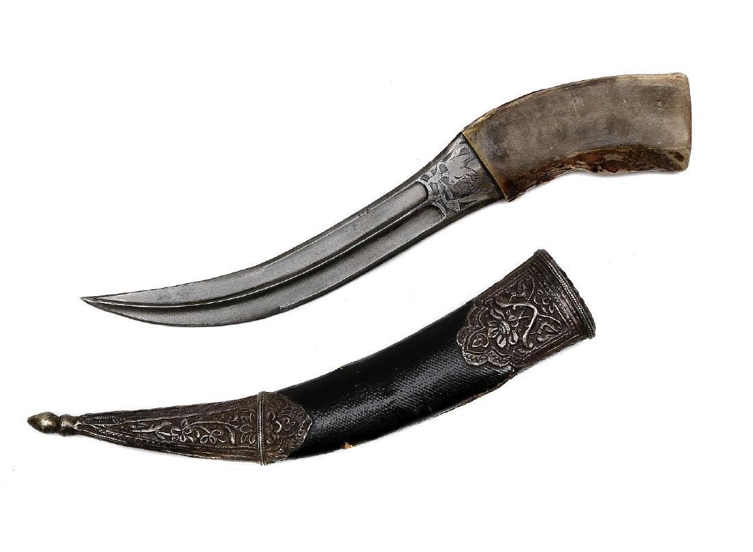 WOOTZ STEEL PERSIAN KHANJAR DAGGER - 2