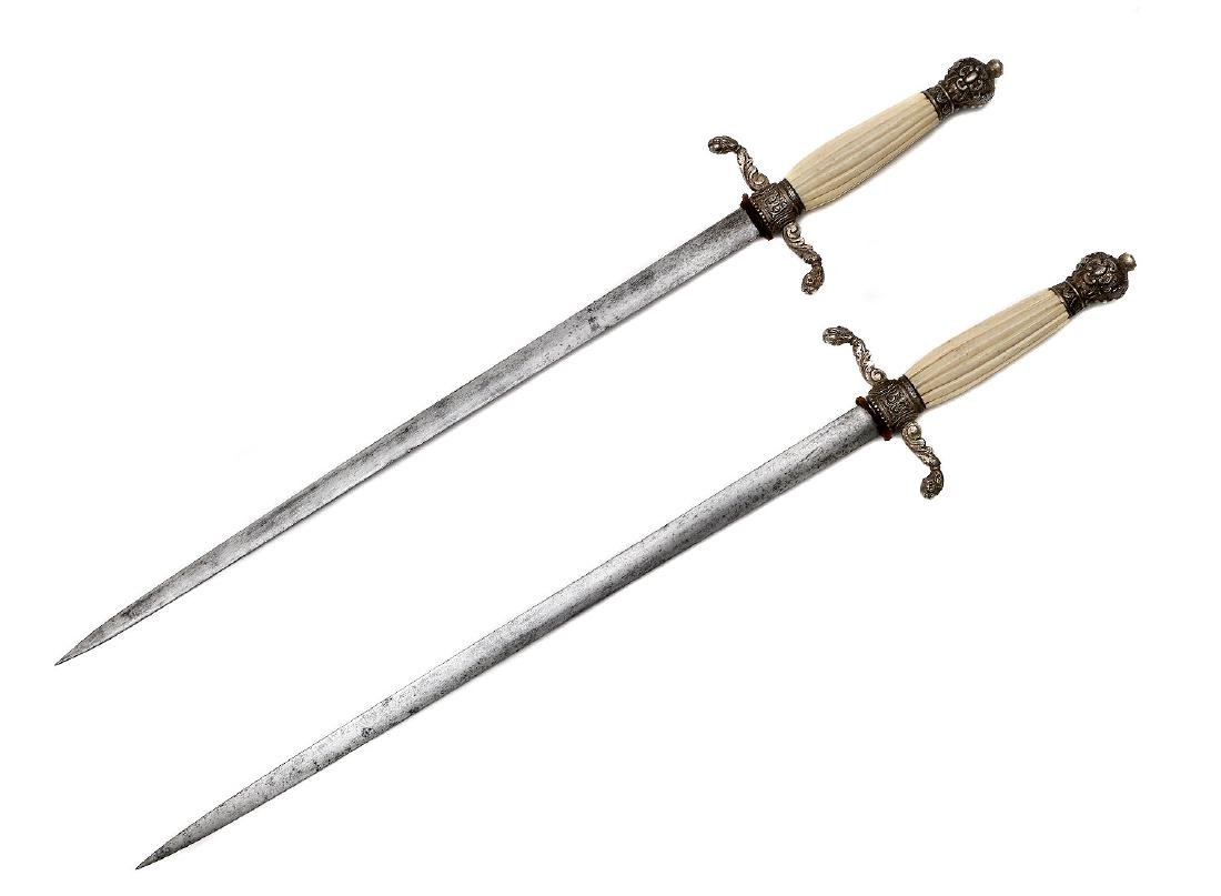 SET OF TWO 19TH CEN. DAGGER OR DIRKS