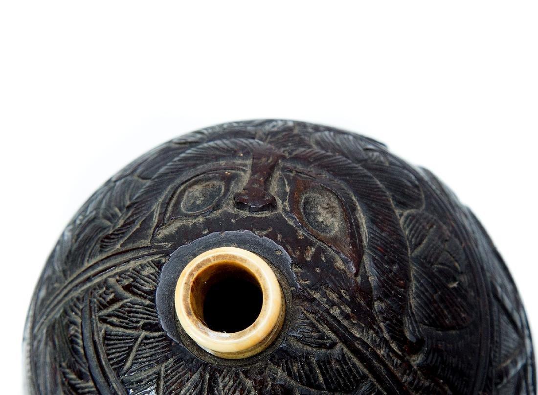 A CARVED COCO-DE-MER, W COAST OF INDIA OR CEYLON, 18TH - 4