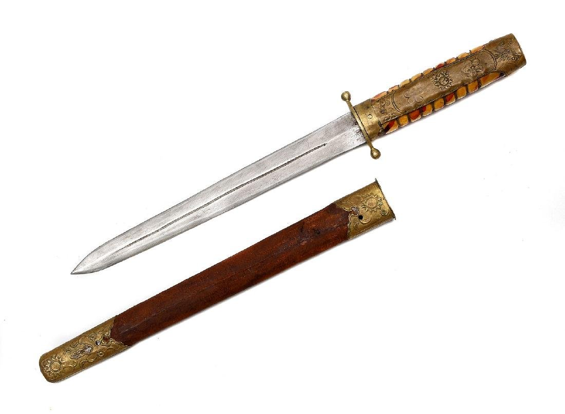A CHINESE REPUBLIC KUOMINTANG ARMY OFFICER'S DAGGER - 2