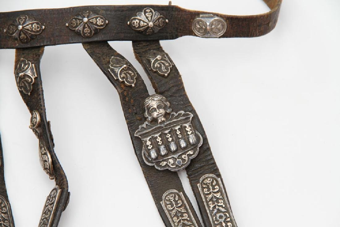 CAUCASIAN BELT WITH SILVER MOUNTS - 4
