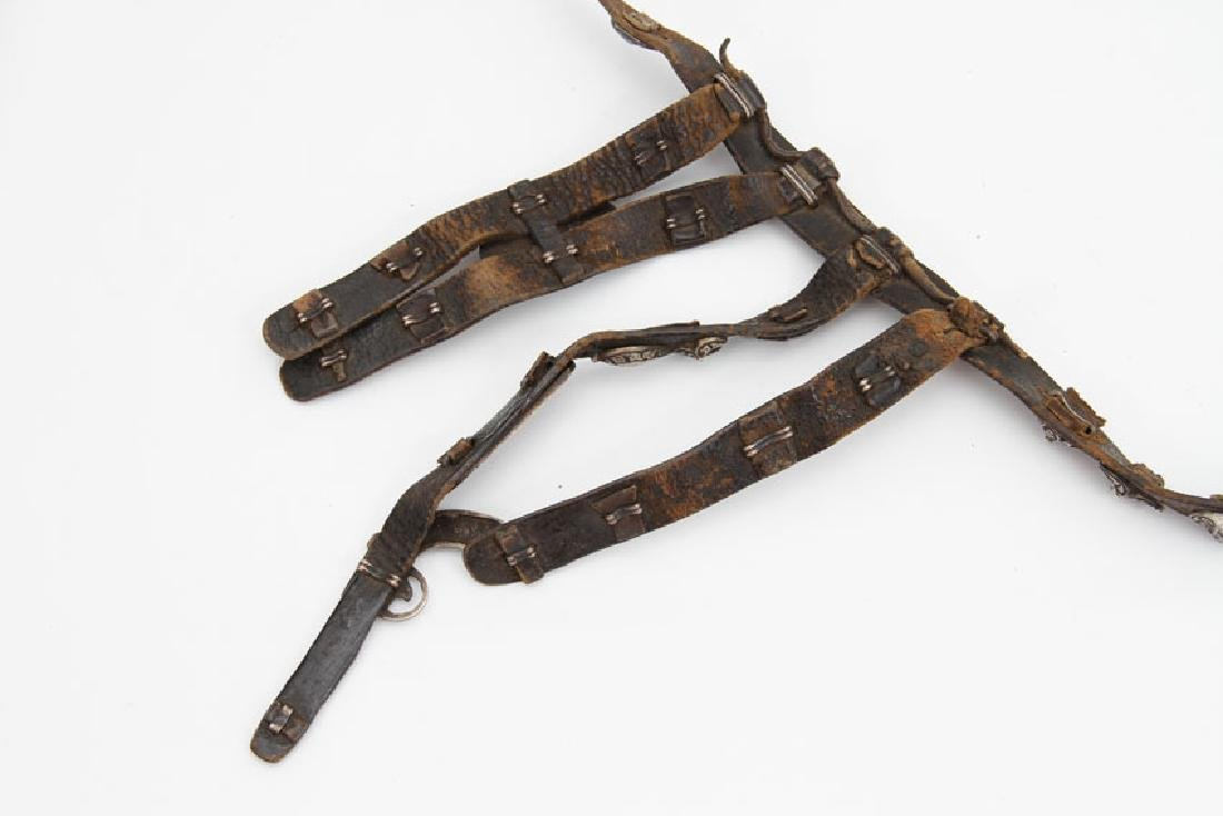 CAUCASIAN BELT WITH SILVER MOUNTS - 6