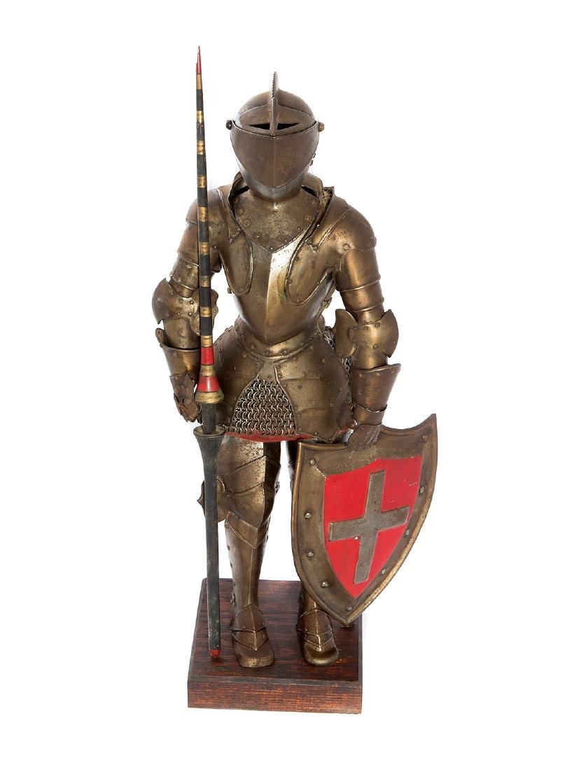 MINIATURE SET OF MEDIEVAL ARMOR, 19TH C.