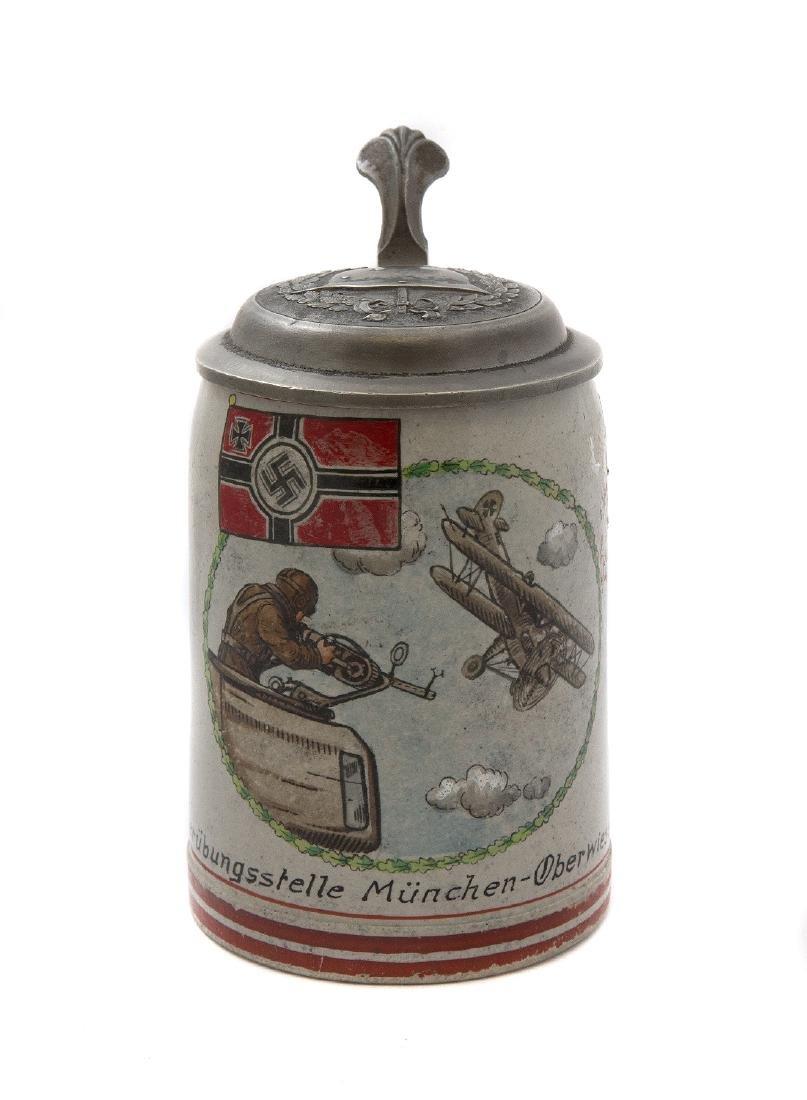 WW2 MILITARY BEER STEIN, AERIAL GUNNER, MUNICH