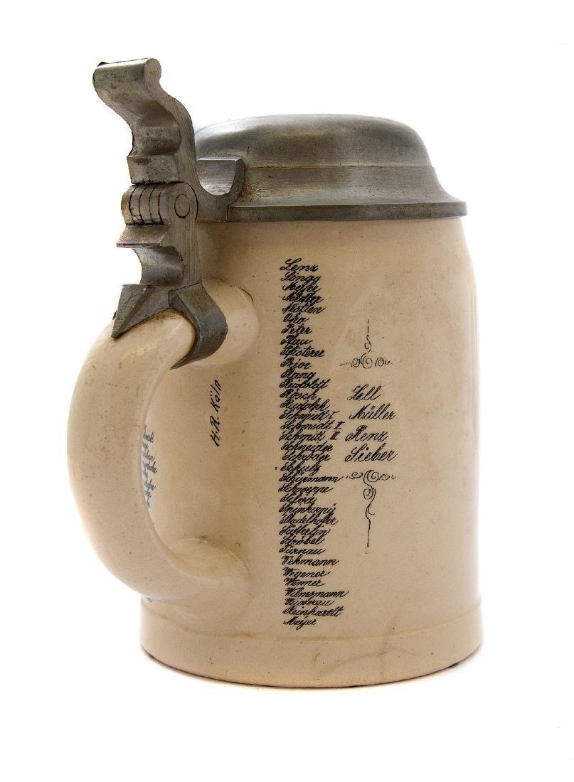 BAVARIAN MILITARY STEIN, 4TH TELEGRAPH BATT., 1909 - 4