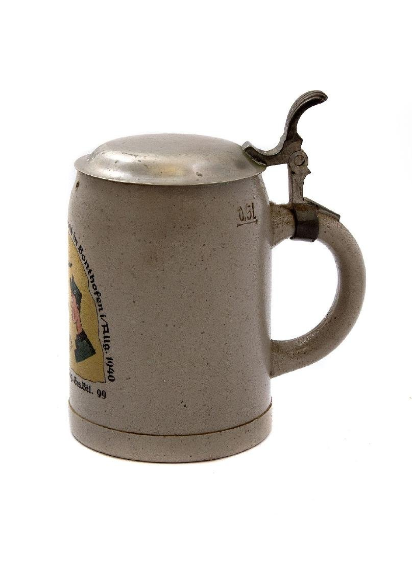 "WW2 MILITARY BEER STEIN, GEBIRGSJÃ""GER 1940 - 2"