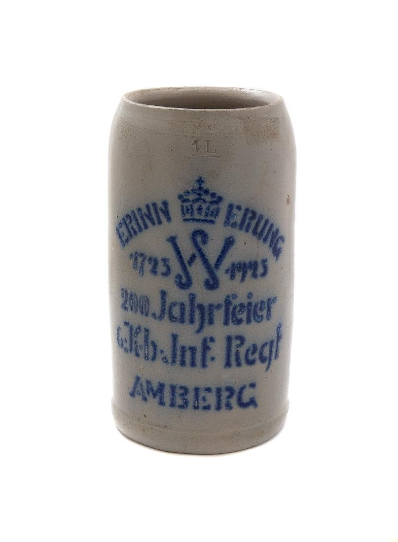 MILITARY COMMEMORATIVE BEER STEIN, AMBERG 1925