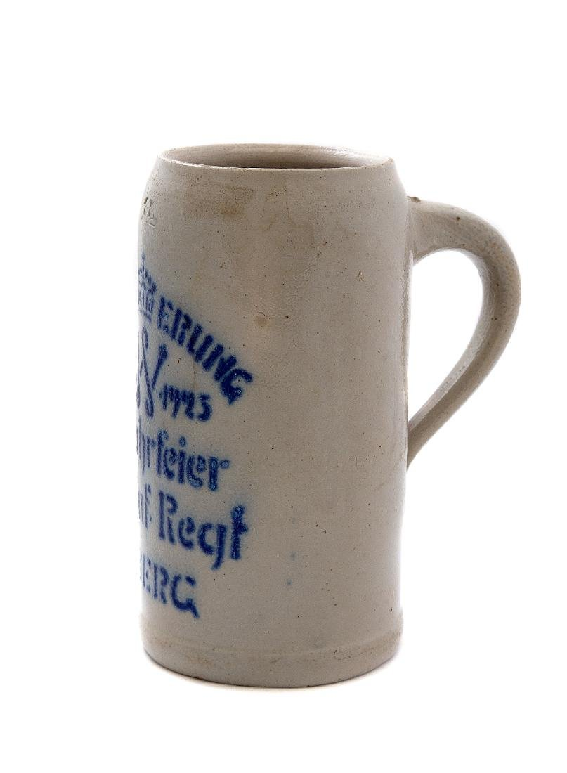 MILITARY COMMEMORATIVE BEER STEIN, AMBERG 1925 - 2