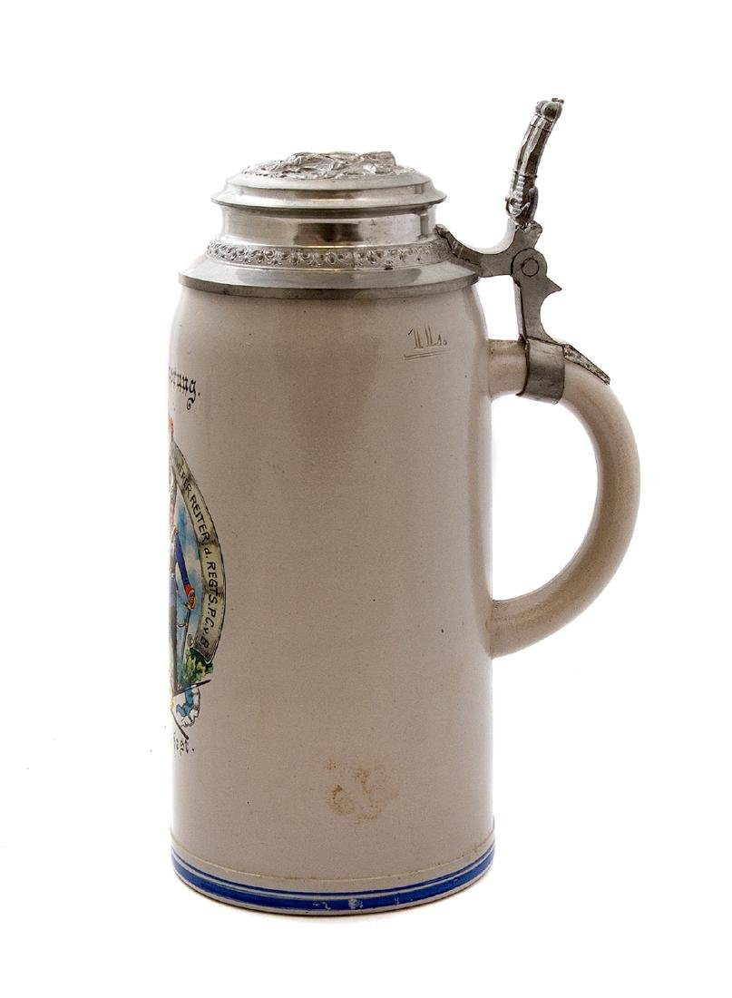 BEER STEIN COMMEMORATING WAR OF 1871, 1896 GERMANY - 2