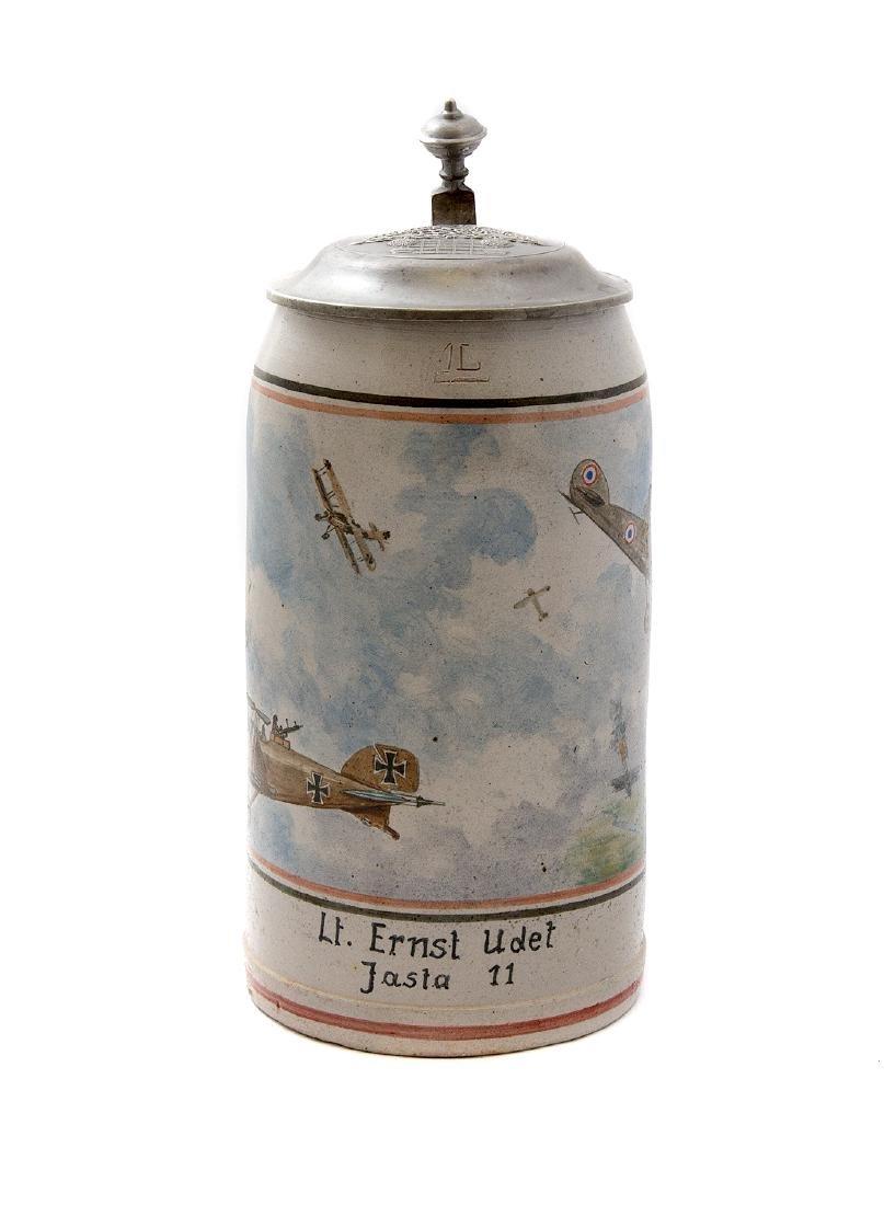 WW1 AVIATION ACE ERNST UDET BEER STEIN