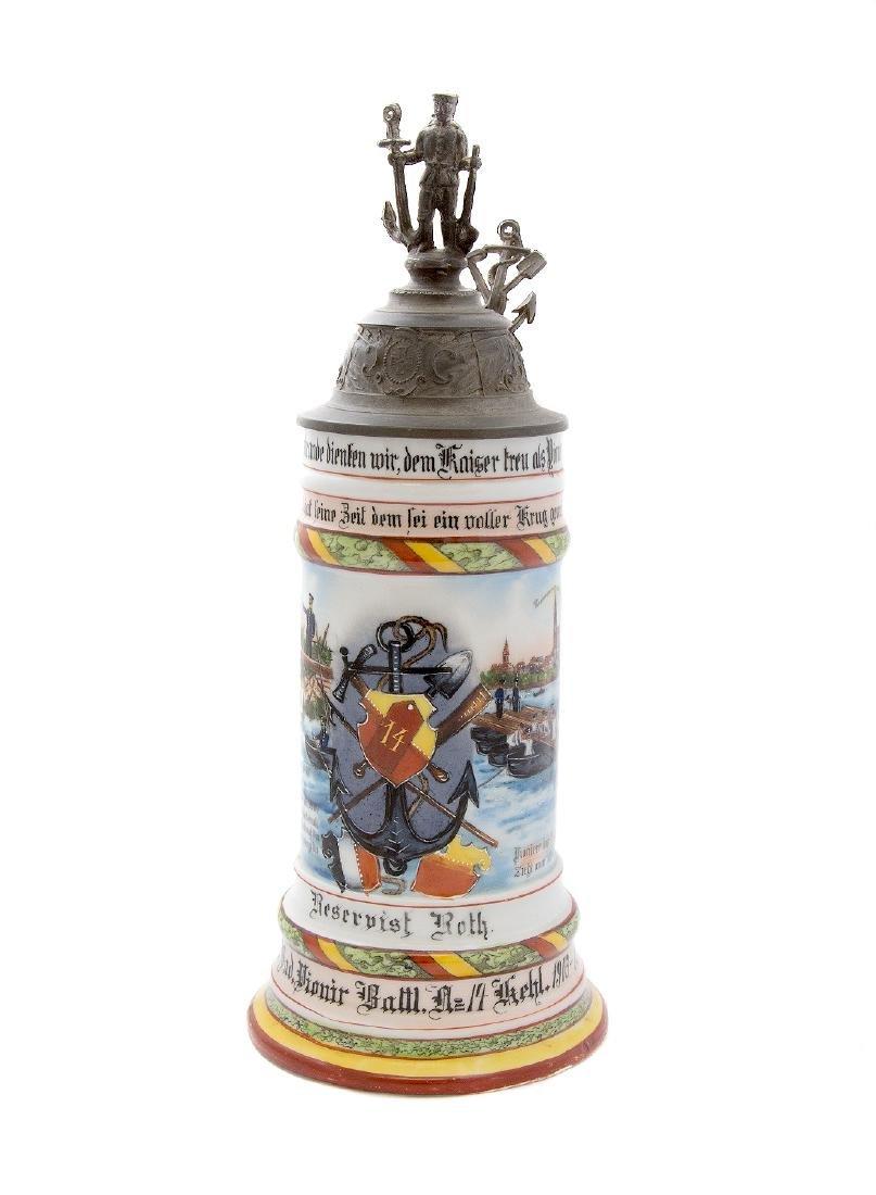 RESERVISTENKRUG, REGIMENTAL BADEN PIONIER BEER STEIN,
