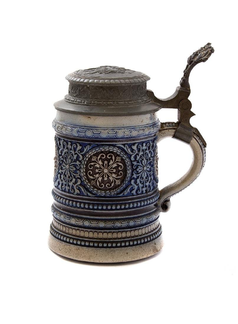 SWISS BEER STEIN WITH MUSIC BOX - 2