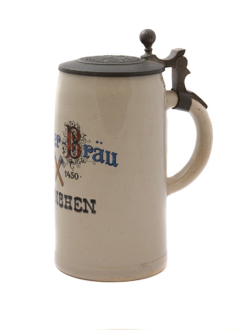 HACKERBRAU BREWERY BEER STEIN 1910, MUNCHEN - 2