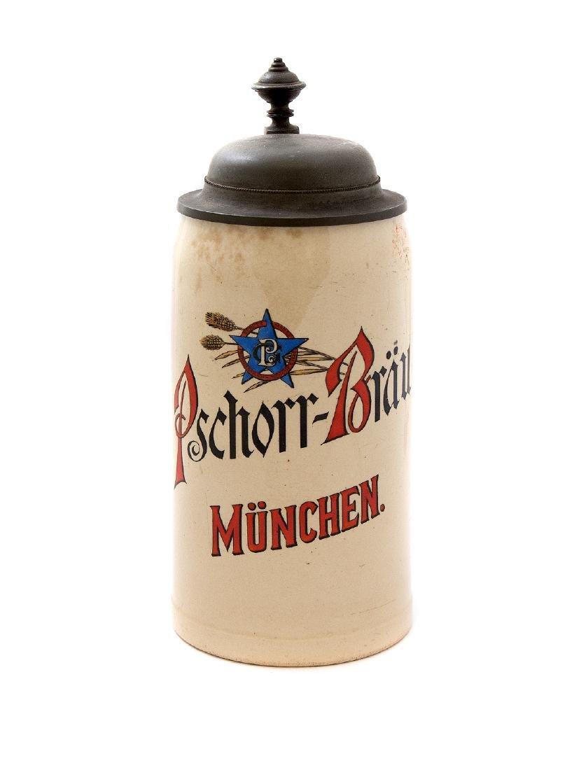 PSCHORR-BRAU BREWERY BEER STEIN, MUNCHEN