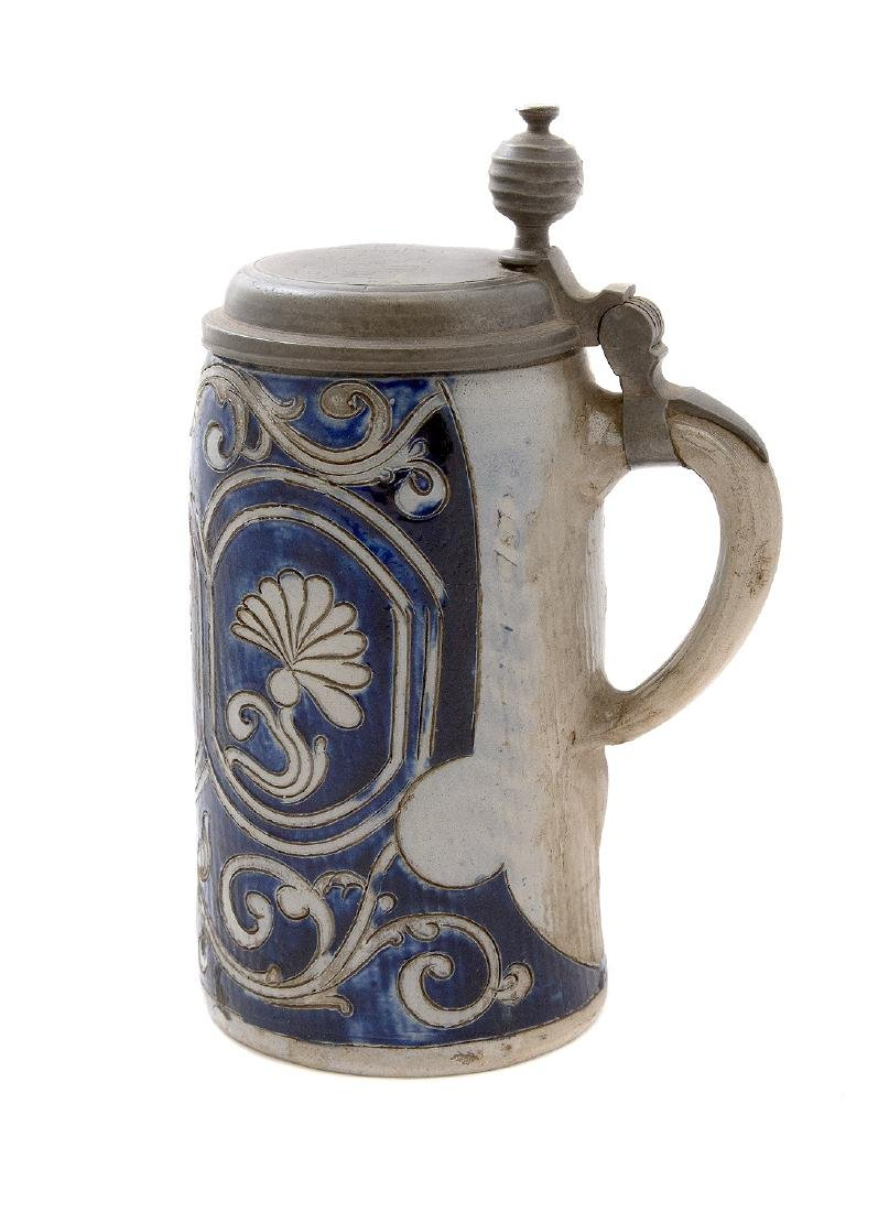 STEINGUT (IRONSTONE) STEIN W/ INCISED DECORATION, 1783 - 2