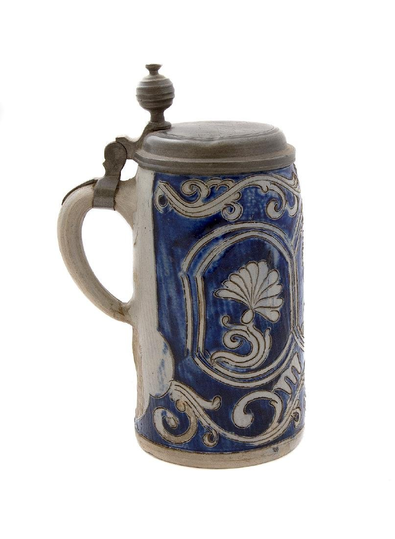 STEINGUT (IRONSTONE) STEIN W/ INCISED DECORATION, 1783 - 3