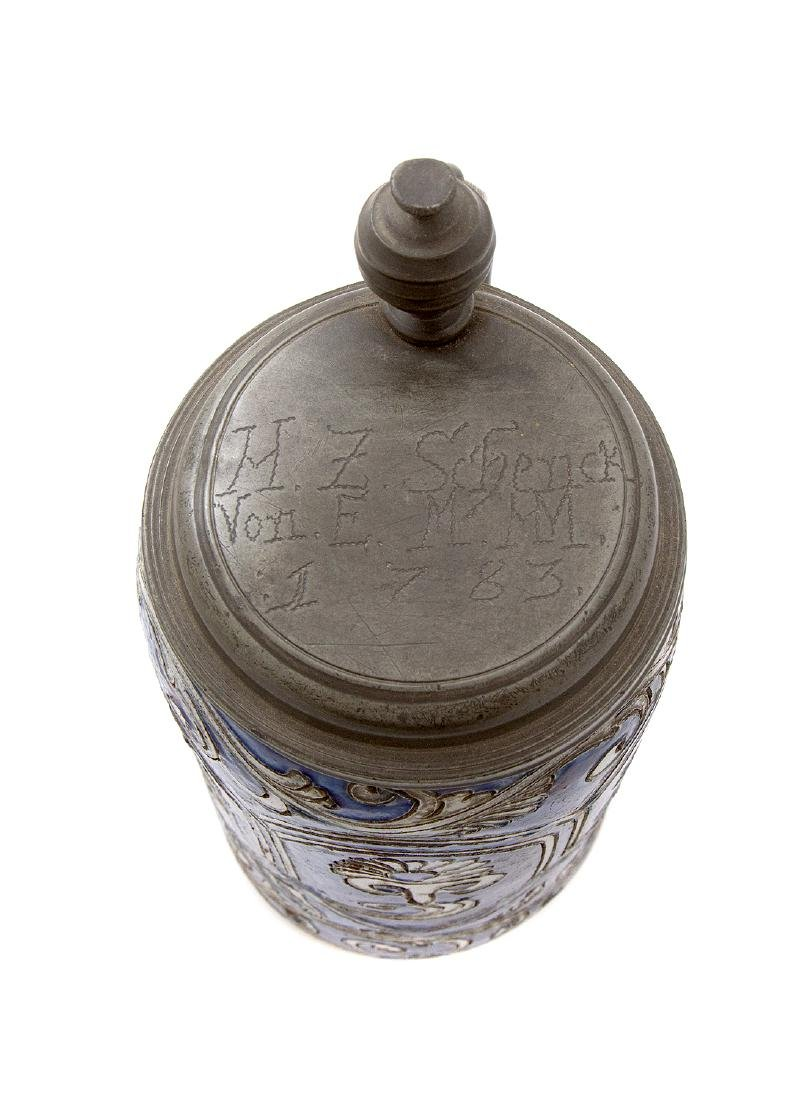 STEINGUT (IRONSTONE) STEIN W/ INCISED DECORATION, 1783 - 4