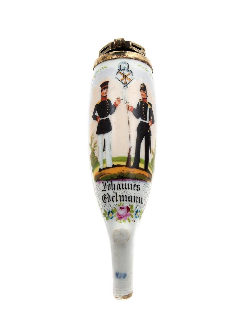 EARLY REGIMENTAL HAND PAINTED PIPE LÃœNEBURG 1856