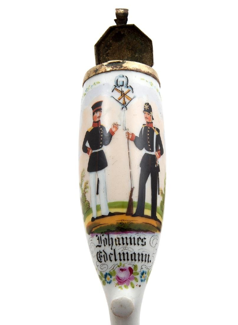 EARLY REGIMENTAL HAND PAINTED PIPE LÃœNEBURG 1856 - 4