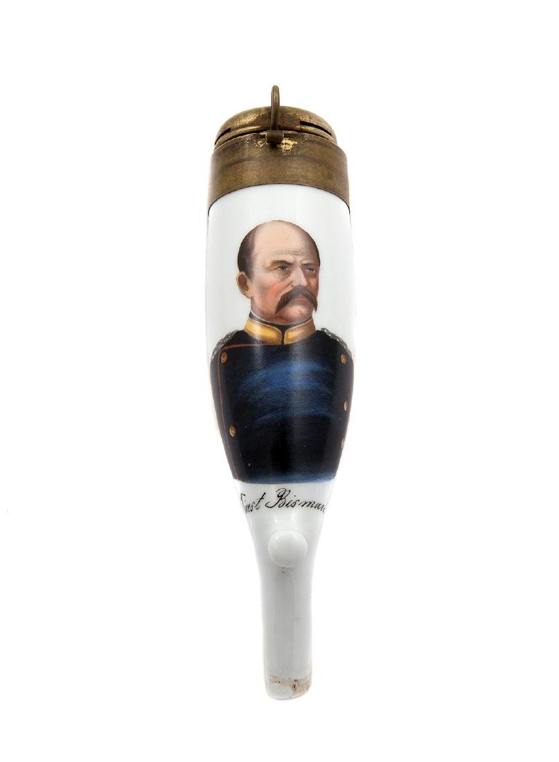 EARLY PIPE BOWL WITH PORTRAIT OF OTTO VON BISMARCK, C.