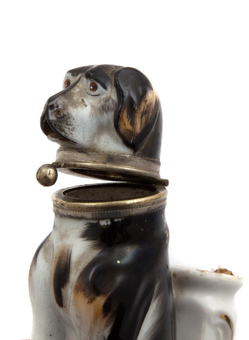 PIPE BOWL WITH SAINT BERNARD DOG, C. 1870 - 4