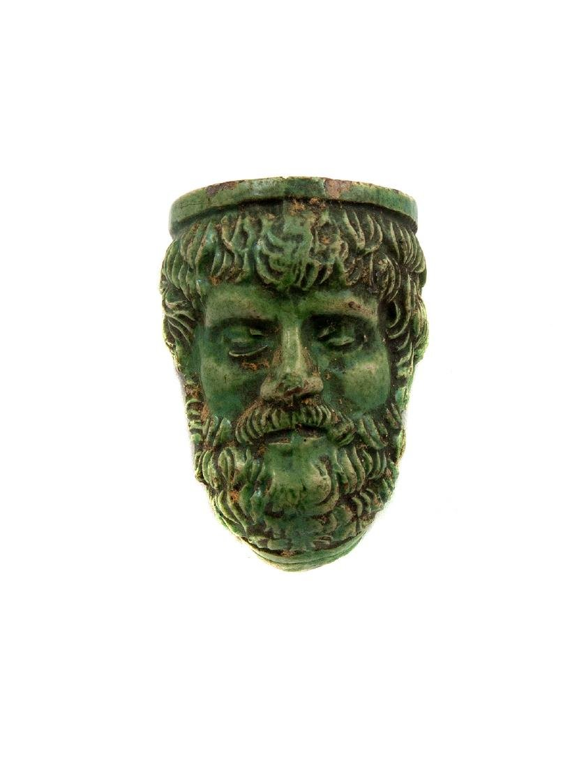 GREEK-STYLE CERAMIC HEAD PIPE BOWL